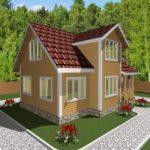 Дом из бруса Гжель (2)