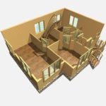 Дом из бруса Гжель (8)