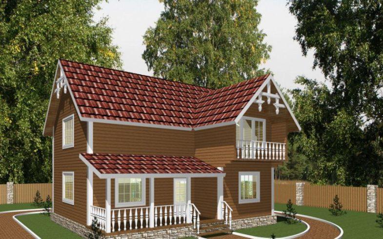 Дом из бруса Дубки (1)