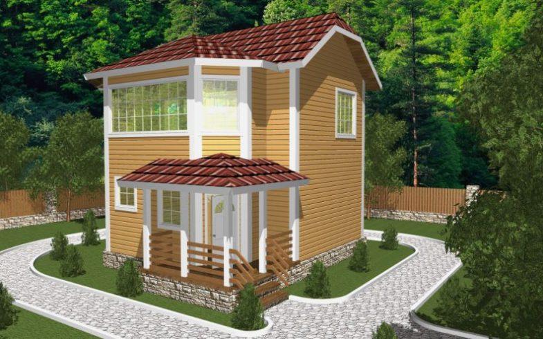Дом из бруса Ступино (1)