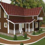 Дом из бруса Троицк (1)