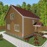 Дом из бруса Углич (1)